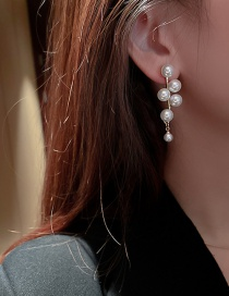 Fashion Gold Color Color Earrings Pearl Ear-rings
