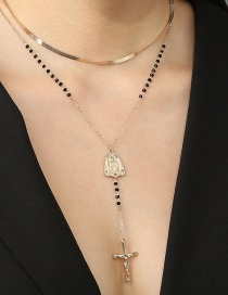Fashion Gold Color Mix And Match The Virgin Mary Cross Necklace