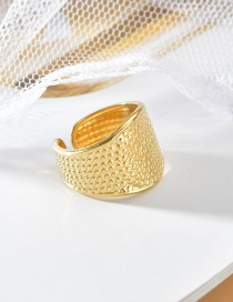 Fashion Gold Color Oval Dot Open Ring