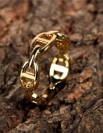 Fashion Gold Color Open Pig Nose Chain Ring