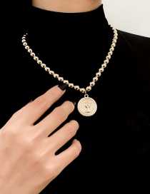 Fashion Gold Color Alloy Round Bead Imitation Pearl Set Necklace