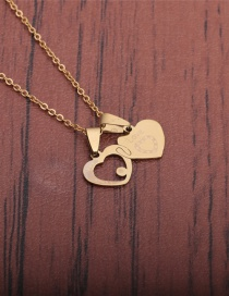 Fashion Gold Color Heart Shaped Stainless Steel Necklace