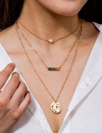 Fashion Golden Metal Texture Multilayer Necklace