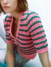 Fashion Color Striped Knitted Sweater