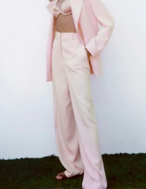 Fashion Pink Wide Tube Trousers