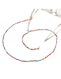 Fashion Color Chain Mixed Color Rice Bead Glasses Chain