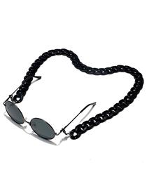 Fashion Black Acrylic Glasses Chain