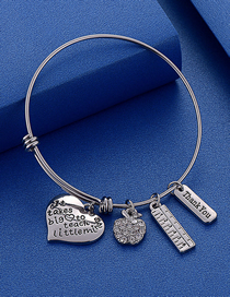 Fashion Silver Color Adjustable Letters It Takes Big Stainless Steel Bracelet