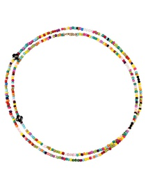 Fashion Color Rice Bead Necklace
