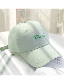 Fashion Bean Green Alphabet Baseball Cap