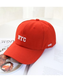 Fashion Red Nyc Sunscreen Sunshade Baseball Cap