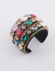 Fashion Bracelet Flannel Bracelet With Diamonds And Colored Gems