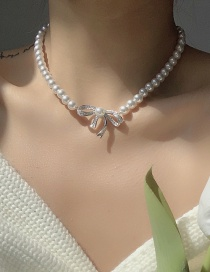 Fashion Pearl Pearl Bow Necklace