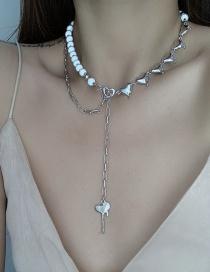 Fashion Silver Color Luminous Reflective Love Necklace