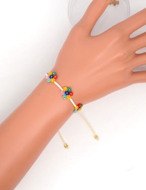 Fashion Color Woven Small Daisy Seven-color Flower Beaded Bracelet
