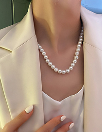 Fashion Gold Color Pearl Large And Small Pearl Necklace