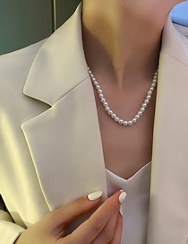 Fashion Little Gold Color Pearl Large And Small Pearl Necklace