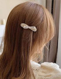 Fashion Gold Color Hairpin Bow Pearl Hairpin