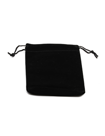 Fashion 7*9 Flannel Bag Contrasting Color Storage Bag With Laces