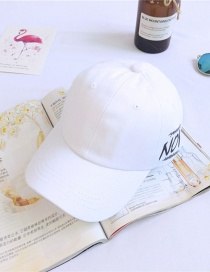 Fashion White Alphabet Baseball Cap
