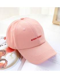Fashion Pink English Embroidery Baseball Cap