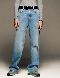 Fashion Blue Ripped Jeans