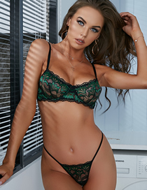 Fashion Malachite Green Lace Underwear Set