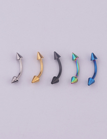 Fashion 5 Mixed Colors Stainless Steel Pointed Eyebrow Nails