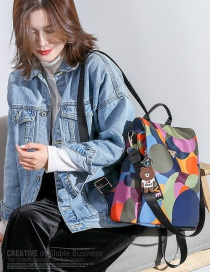 Fashion Color Printed Oxford Canvas Backpack