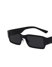 Fashion Black Frame Gray Piece Metal Square Sunglasses