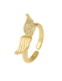 Fashion B (wings) Angel Wing Butterfly Real Gold Plated Ring