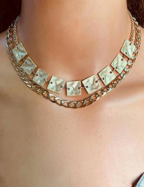 Fashion Golden Gold Chain Alloy Double Necklace