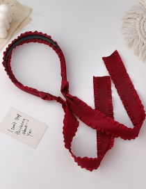 Fashion A Red Ruffled Ribbon Twist Braided Hair Band