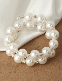 Fashion White Multilayer Pearl Bracelet