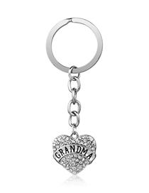Fashion Grandma Stainless Steel Letters Aunt Gigi Grandma Love Heart Diamond Keychain Reviews
