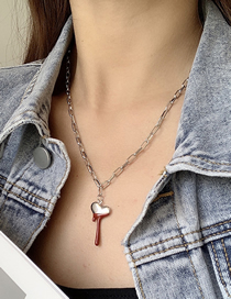 Fashion Silver Astral Cross Drop Necklace