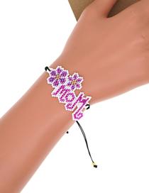 Fashion Purple Purple Mom Letter Beaded Bracelet