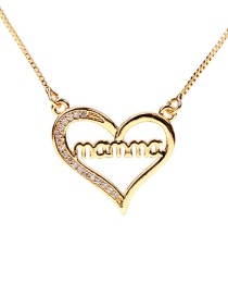 Fashion Golden Mama Love Letter Necklace