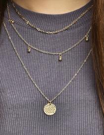 Fashion Golden Multilayer Disc Necklace