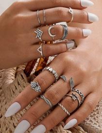 Fashion Silver Arrow Palm Ring Set D