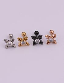 Fashion Gold 14# Mini Lightning Stainless Steel Screw Earrings