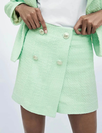 Fashion Blue Textured Shorts