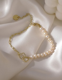 Fashion Pearl Love Shaped Pearl Bracelet