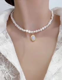 Fashion White Pearl Moonstone Drop Necklace