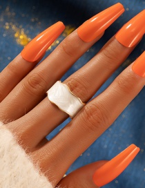 Fashion White Irregular Ring With Open Dripping Oil
