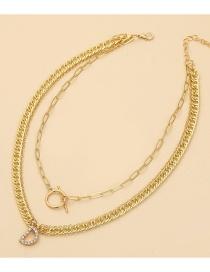 Fashion Gold Color English Alphabet Multilayer Necklace