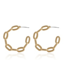 Fashion Gold Color Geometric C-shaped Alloy Earrings