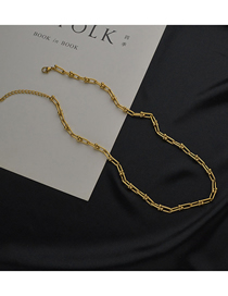 Fashion Gold Color Thin Necklace With Titanium Steel Chain