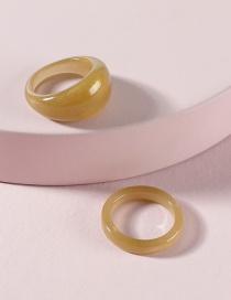 Fashion Brown Resin Acrylic Ring