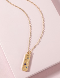 Fashion Gold Color Rectangular Alloy Necklace